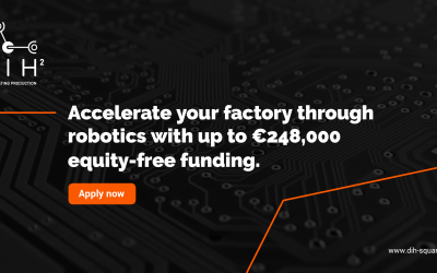 DIH² launches its first open call offering €248,000 to encourage robotics-related technology adoption in the field of manufacturing